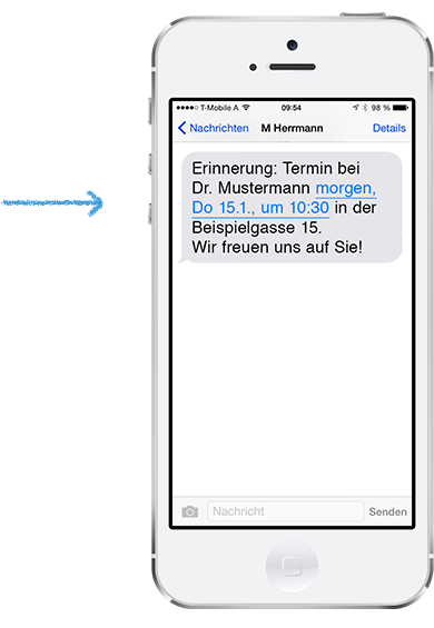 Terminerinnerung per SMS